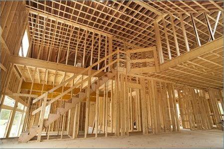 Skeletová dřevěná konstrukce stavby