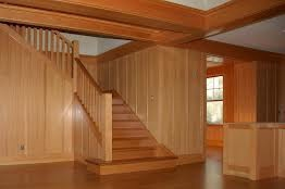 Dřevěné obložení,schodiště a podlaha