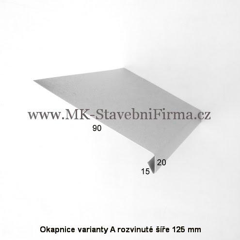 Okapnice varianty A rozvinuté šíře 125 mm