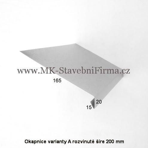 Okapnice varianty A rozvinuté šíře 200 mm