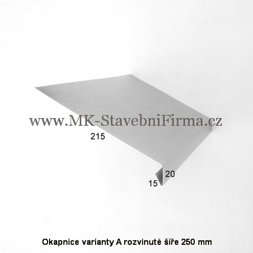 Okapnice varianty A rozvinuté šíře 250 mm