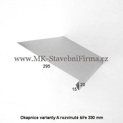 Okapnice varianty A rozvinuté šíře 330 mm