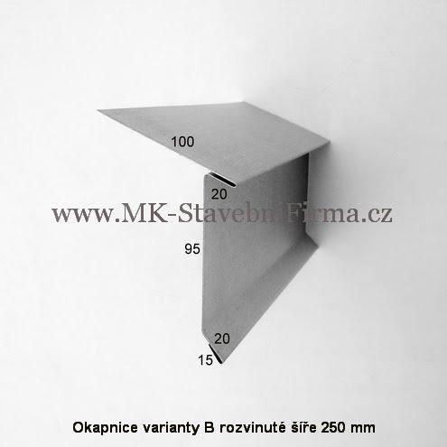 Okapnice varianty B - rozvinuté šíře 250 mm