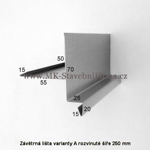 Závĕtrná lišta A RŠ 250