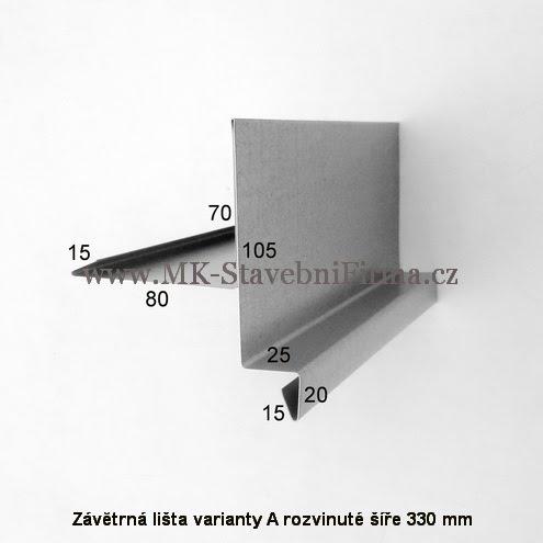Závĕtrná lišta A RŠ 330