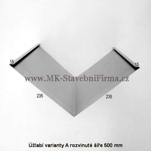 Úžlabí varianty A rozvinuté šíře 500 mm