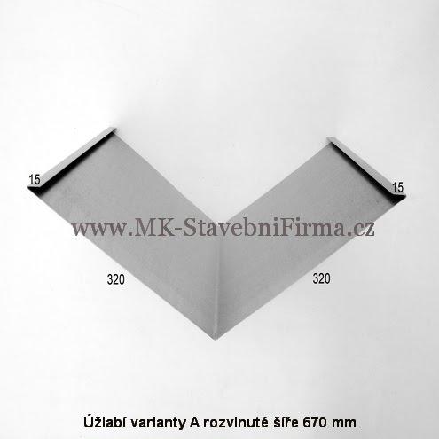 Úžlabí varianty A rozvinuté šíře 670 mm