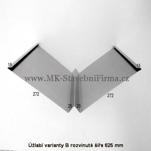 Úžlabí varianty B rozvinuté šíře 625 mm