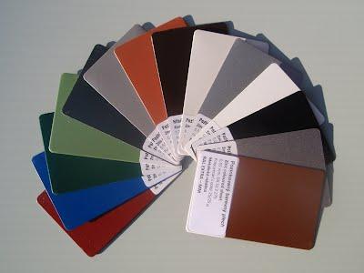 Barvy okenních parapetů z pozinkovaného ocelového plechu