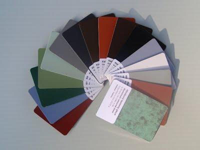 Barvy hliníkových okenních parapetů