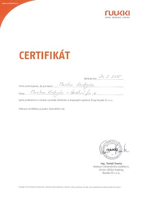 Certifikát Ruukki