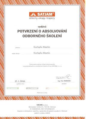 Certifikát Satjam